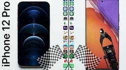 iPhone 12 Pro có tốc độ ra sao so với Samsung Galaxy Note 20 Ultra?