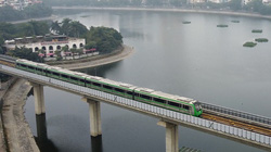 Flycam: Tàu đường sắt Cát Linh - Hà Đông chính thức chạy thử toàn hệ thống