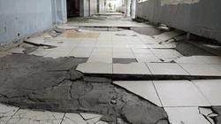 Rùng mình với hình ảnh sụt lún bệnh viện ở TP.HCM như động đất