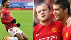 """Ghi bàn tằng tằng, Rashford """"chung mâm"""" với Ronaldo và Rooney"""