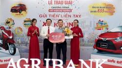Agribank Chi nhánh Phú Yên trao xe ô tô và xe máy cho khách hàng trúng thưởng