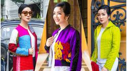 """Hoa hậu Giáng My xinh đẹp """"đốn tim"""" nhờ áo chần bông giữa trời đông Hà Nội"""