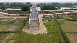 Cây cầu trăm tỷ vượt sông Cầu xây xong nhưng chưa  có lối xuống