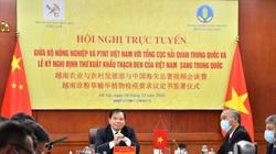 Việt Nam - Trung Quốc thiết lập đường dây nóng tháo gỡ vướng mắc thương mại nông sản