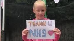 Bé gái 9 quyên góp 500 bảng Anh cho NHS nhờ việc nhảy trên bạt lò xo trong 24 giờ