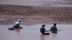 Hồ nước ngọt lớn nhất miền Tây cạn rặc, dân xuống mò cua bắt ốc kiếm sống qua ngày