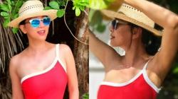 """Tuổi U60, MC Kỳ Duyên mặc bikini đẹp """"đốt mắt"""" ở bãi biển, bật mí cách trẻ lâu nhờ ăn chay"""
