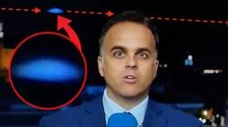 """Sốc: """"UFO màu xanh bí ẩn"""" lọt vào ống kính truyền hình Tây Ban Nha"""