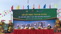 Lễ cất nóc tòa B1 và B2 Dự án Khu nhà ở xã hội Hacom Galacity