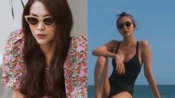 """Tăng Thanh Hà gây """"bỏng mắt"""" vì bức ảnh hiếm hoi mặc bikini ở bể bơi"""