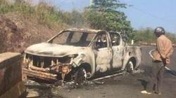 Vụ thi thể cháy đen trong ô tô: Xe cháy là của Bí thư xã