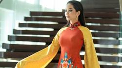 Hoa hậu H'Hen Niê diện áo dài, quảng bá du lịch trên tòa nhà cao nhất Việt Nam