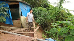 Hà Nội công bố tình trạng khẩn cấp sự cố sạt lở bờ sông, các tuyến đê điều