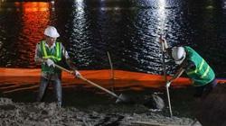 Trắng đêm để kè bờ hồ Gươm bằng bê tông cốt sợi