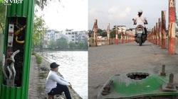 Quận Thanh Xuân buông lỏng quản lý: Dự án đầm Hồng nát bét