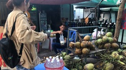 Nắng nóng, nghìn quả dừa bán veo mỗi ngày, thịt lợn không bóng khách