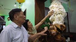 Cận cảnh Cửu Long Tranh Châu chạm khắc trên vỏ sò khổng lồ nghìn năm tuổi