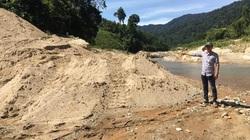 Quảng Nam: Mỏ cát cả ngàn khối ở sông Nước Xa bị rút ruột