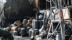 Bộ Tư lệnh hóa học đang phân tích mẫu hóa chất trong vụ cháy ở cảng Đức Giang
