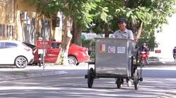 Sinh viên Hà Nội chế tạo xe gom rác thông minh hỗ trợ công nhân môi trường