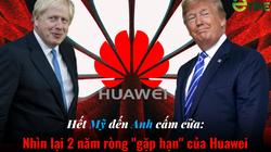 """Infographic: Nhiều nước đồng loạt """"cấm cửa"""", vận đen đeo bám Huawei suốt 2 năm ròng ra sao?"""