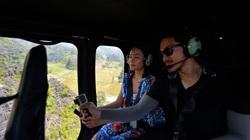 Lần đầu tiên ở Ninh Bình: Du khách choáng ngợp khi ngồi trực thăng vãn cảnh Tràng An