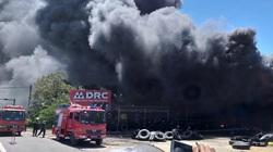 Quảng Nam: Đang cháy rất lớn tại cơ sở lốp ô tô