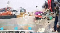 Xe container đấu đầu xe khách, 2 người tử vong tại chỗ
