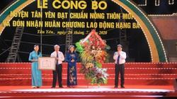 Bắc Giang có huyện thứ 3 đón Bằng công nhận huyện đạt chuẩn nông thôn mới