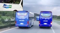 Quảng Ngãi: Xe chở công nhân Doosan Vina ngáng đường xe cứu hỏa đối diện mức phạt nào?