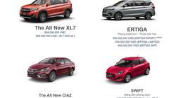 Các mẫu xe Suzuki chính thức được phân phối tại Việt Nam
