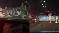 BMW trùm kín bạt sau tai nạn trên cầu Sài Gòn