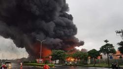 Cháy dữ dội tại KCN Yên Phong, Bắc Ninh