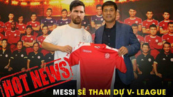 """ẢNH CHẾ: Rời Barcelona, Messi sang Việt Nam """"khuấy đảo"""" V.League"""