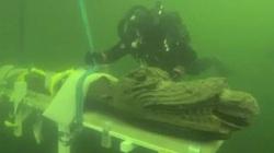 """Đột nhập xác tàu đắm, bất ngờ vớt được """"quái vật biển"""" kỳ lạ bên trong"""
