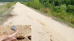 Quảng Ngãi: Hồ chứa gần 1 triệu m3 nước nứt toác chằng chịt, huyện khẩn cấp cầu cứu tỉnh
