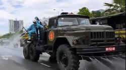 Đà Nẵng: Quân đội phun khử khuẩn toàn quận Sơn Trà