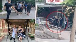 Hình ảnh 'giang hồ' Phú Lê bị còng tay đi vào bệnh viện Đức Giang