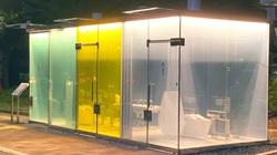 Độc lạ nhà vệ sinh công cộng trong suốt có thể nhìn xuyên thấu từ bên ngoài