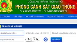 Công dân tra cứu xe vi phạm giao thông qua website của Công an Hà Nội như thế nào?