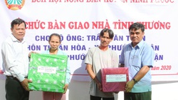 Ninh Thuận: Tặng nhà tình thương cho hội viên nông dân có hoàn cảnh khó khăn