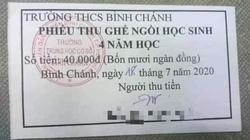 """TP.HCM: Trả lại tiền """"ghế ngồi học sinh"""" đã thu của phụ huynh"""