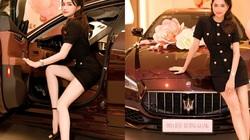 Hoa hậu Hương Giang được bạn trai hộ tống đi nhận xế hộp 8 tỉ đồng
