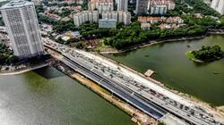 Đường Vành đai 3 hơn 300 tỷ đồng qua hồ Linh Đàm chuẩn bị cán đích