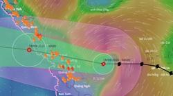 Khẩn: Bão số 5 đổ bộ Quảng Bình - Quảng Nam vào trưa nay, đã gây mưa lớn nhiều nơi