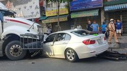 Xe container tông ôtô BMW và 2 xe máy, 5 người bị thương nặng