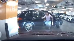 Clip: Nữ tài xế Porsche không cài số P, xe trôi tự do cánh cửa gãy gập xót xa