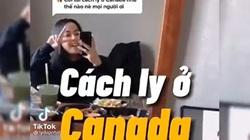 """Tiktok trend: Cuộc sống của du học sinh cách ly dịch Covid 19 ở Canada được ghi lại cực """"chất"""""""