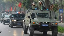 Ảnh: Công an Hà Nội ra quân bảo vệ Đại hội Đảng XIII