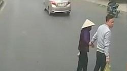 """Dừng xe dắt cụ bà sang đường, tài xế container nhận """"mưa tim"""""""